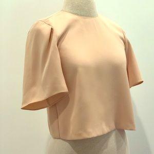 ZARA WOMAN Bell-Sleeve Crop Top